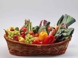 cestino di frutta e verdura